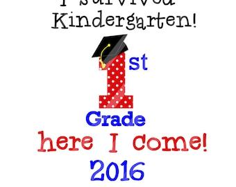 Kindergarten Graduation Digital Download for iron-ons, heat transfer, Scrapbooking, Cards, Tags, DIY, YOU PRINT