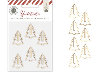 Pink Paislee Yuletide Tree Paper Clips  -- MSRP 4.00