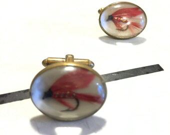 Vintage Fly Fishing Cuff Links Vintage Menswear A205