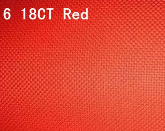 18ct aida cotton fabric,18ct cross stitch fabric,18ct cross stitch cotton aida fabric,red aida