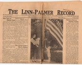 1951 Newspaper, Kansas History, The Linn Palmer Record, Genealogy Research, Vintage Advertisements, Weddings, Deaths, Births