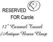 RESERVED FOR CAROLE