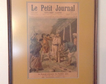 Framed French Newspaper