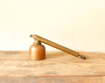Vintage Brass Copper Industrial Style Bug Pesticide Hand Pump Sprayer Garden Tool Display Decor