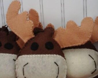 Felt Moose Ornament