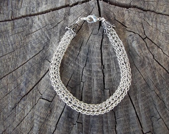 Viking Knit .999 Silver Bracelet