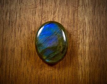 Chatoyant Labradorite flat back cabochon - stone for bezel - stone for jewelry making - FabbyDabby Stones
