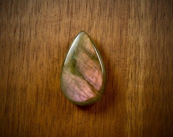 Chatoyant Labradorite flat back cabochon - stone for bezel - stone for jewelry making - FabbyDabby Stones