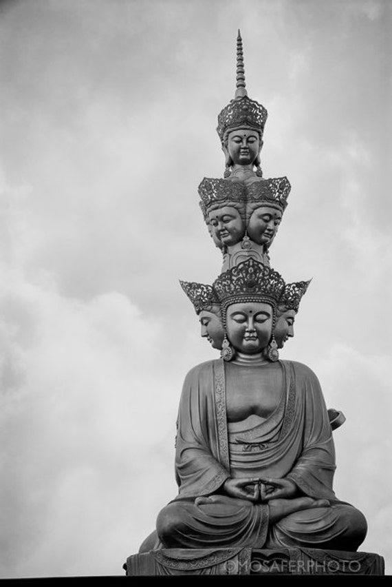 Travel Photography, Buddha, China, Black and white, Home Decor, Wall art, Fine Art Print, Gift for him, Christmas gift idea, Art Print