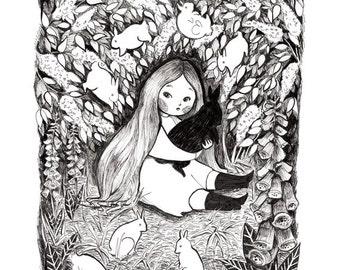 A4 Print Rabbit Girl