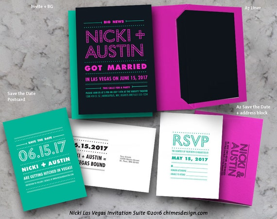 NICKI Las Vegas Elopement Invitation Suite Printables