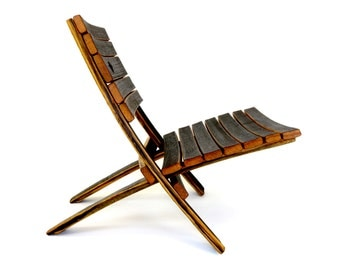 Bourbon Barrel EZ Chair