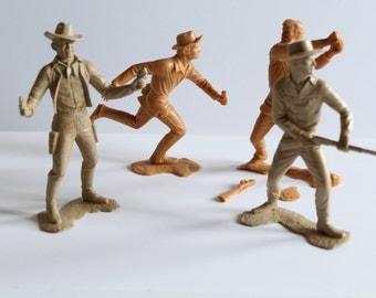 1960s Marx & CO Cowboys Plastic Toys