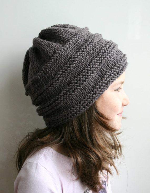 KNITTING PATTERN Oversized slouchy hat knitting pattern 08