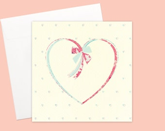 Unisex Heart Greeting card or greeting card set