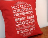Hot Cocoa Pillow Cover 12x12