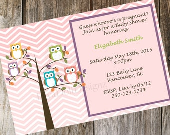 Owl Baby Shower Invite | Baby Shower Invitation | Owl Invitation | Printable