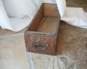 Vintage Wooden Sewing Table Drawer, Drawer with Craved, Old Drawer, Vintage Drawer, Storage, Quarter Sawn Oak