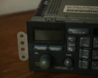 Delco Pontiac AM/FM/Cassette Radio, Vintage Radio Pontiac Car Radio, Vintage Car, Cassette Deck