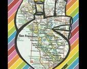 10 San Francisco heart stickers