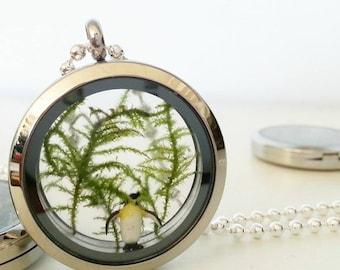 Penguin Terrarium Necklace