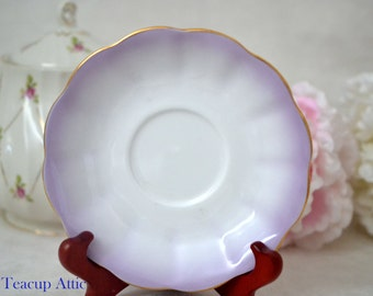 Royal Albert Purple Rainbow Replacement Saucer Only, English Bone China Saucer,  ca. 1950