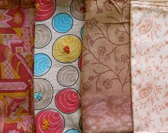 Fat Quarters, Silk Fabric, Sari Silk FQ160