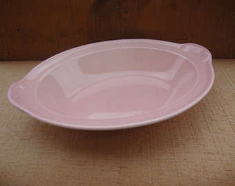 Vintage Lu-Ray Pastels 10 Inch Serving Dish Shannon Pink T.S. and T LuRay Pastels July 1938 Serving Dish