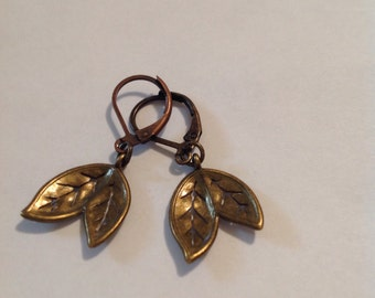 Antique Bronze Earrings/Gold Earrings/Antique Gold Jewerly/Jewerly/Dangle Earrings