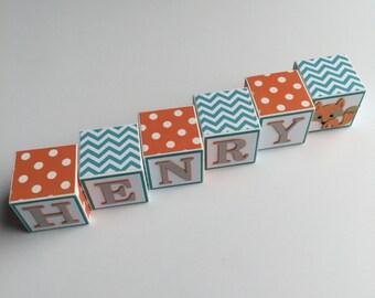 Baby Name Blocks Boy Girl Newborn Gift Baby Shower Nursery Custom Personalized Letters Wall Decor Babies