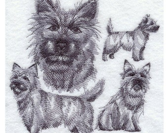 Custom Embroidered Cairn Terrier Sweatshirt S-3XL