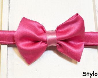 Kids pink Tie, boys bow ties, baby bow ties, bow ties for Boys, kids bow ties, Adjustable bow tie