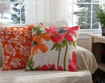Pretty Poppies 18 inch with Fresco Tangerine 18 inch