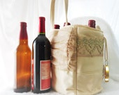 Fancy Wine Holder, Six Pack Carrier, Upcycled Beer Bag, Craft Beer Carrier, Woman Beer, Oregon Beer, Beer Bag, Craft Beer Bag