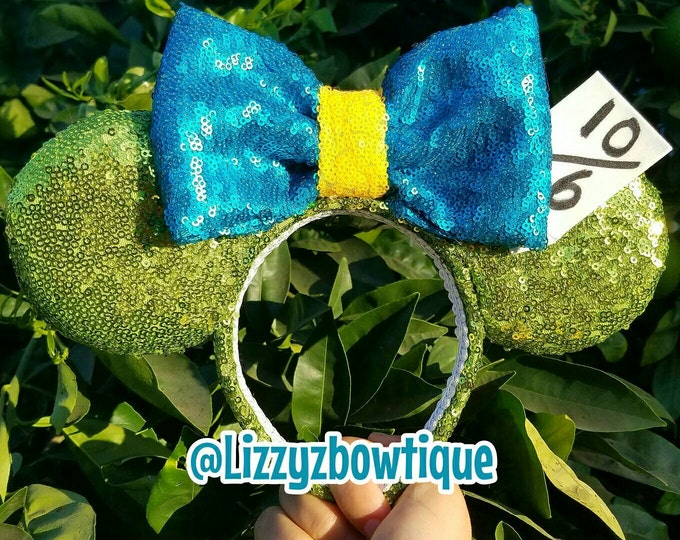 Mad Hatter Sequin Minnie Ears