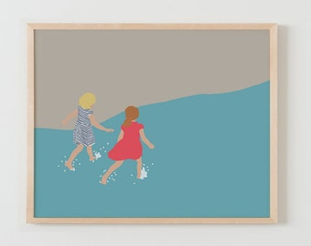Fine Art Print.  Friends at the Beach.  June 14, 2016.