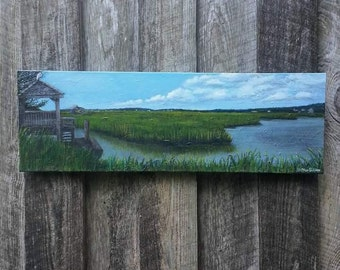 Original Panoramic Landscape Painting by Heather Gillmer