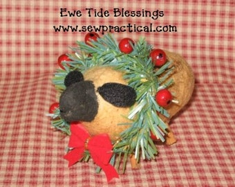 Ewe Tide Blessings Sheep Christmas Ornament Digital Pattern from Sew Practical, Mom and Pop Craft