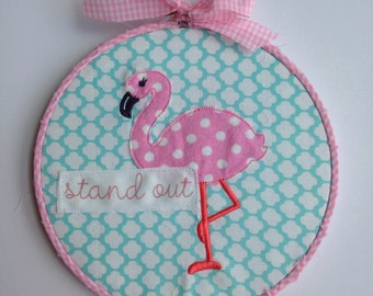 Flamingo hoop art