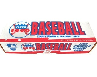 Vintage Fleer 1990 Baseball Logo Stickers Trading Cards Factory Sealed Set 672 Cards 45 Stickers