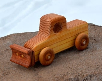 Plow Truck, Redwood, Old Fashioned Plow, Handmade, Heirloom Truck