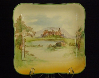 Vintage Royal Doulton  Tintern Abbey Square Dish/Bowl