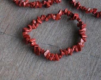 Red Jasper Stretchy String Bracelet B97
