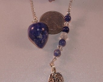 Dowsing Pendulum Sodalite Angel Divination OOAK New Age Metaphysical Magick Pagan Witchy Wicca 15108P