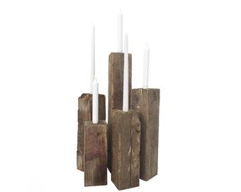 Rustic Candle Holder Set