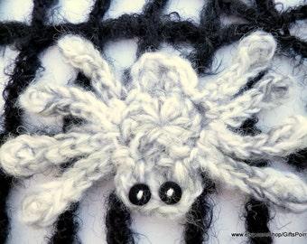 Gray Spider Brooch Halloween Jewelry Spider Pin Halloween Costume