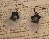 Zora Neale Hurston earrings Literature jewelry mixed media jewelry