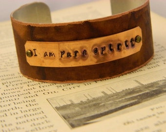 Inspirational bracelet I Am Pure Spirit inspirational jewelry Motivational
