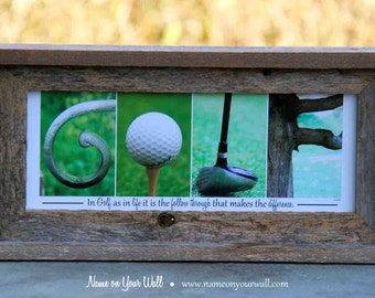 GOLF - Alphabet Photography Artwork - 7.5x16 inches