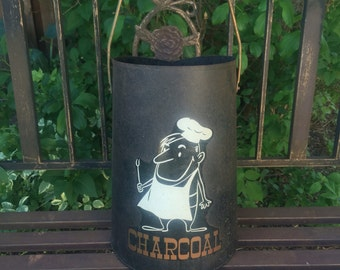 Mid Century Charcoal Bucket Grilling